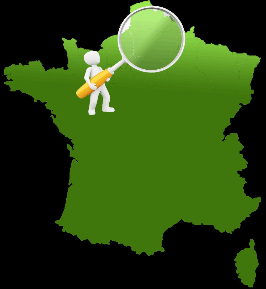 Carte de France avec secteur